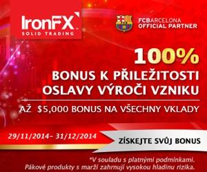 100 % bonus IronFX