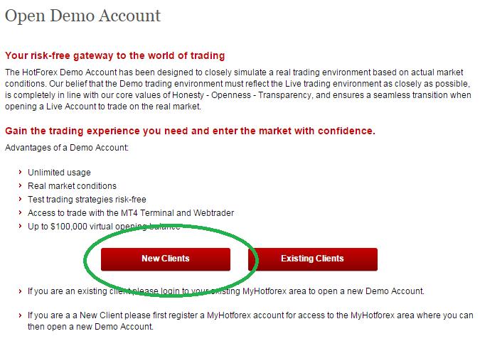 Registrace forex demo účet