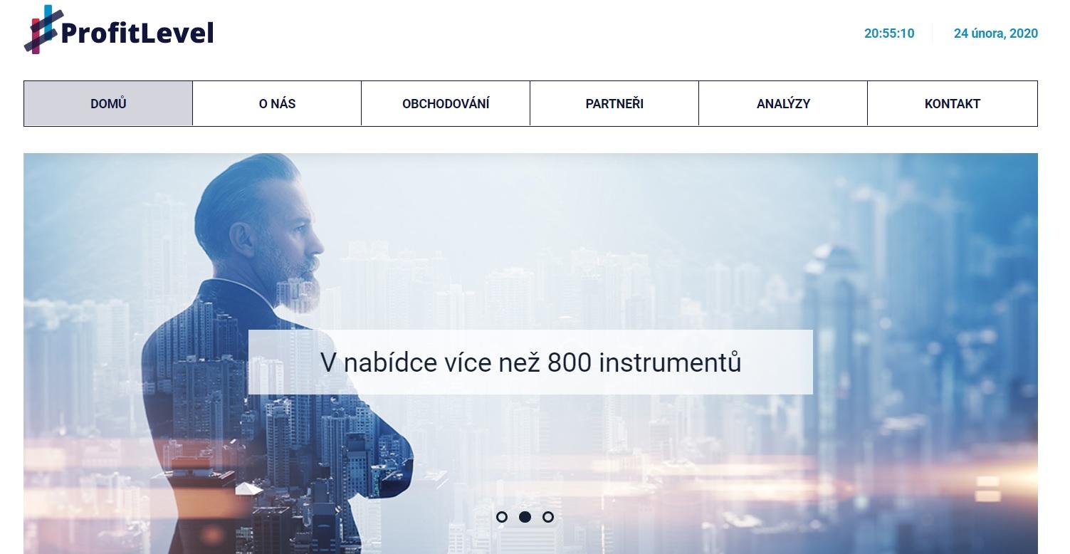 ProfitLevel webová stránka