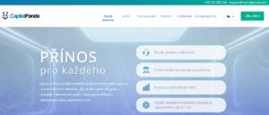 Webová stránka CapitalPanda